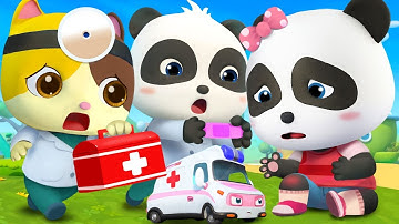 Baby Panda Got Injured | Doctor Cartoon | Boo Boo Song | Kids Songs | Baby Cartoon | BabyBus